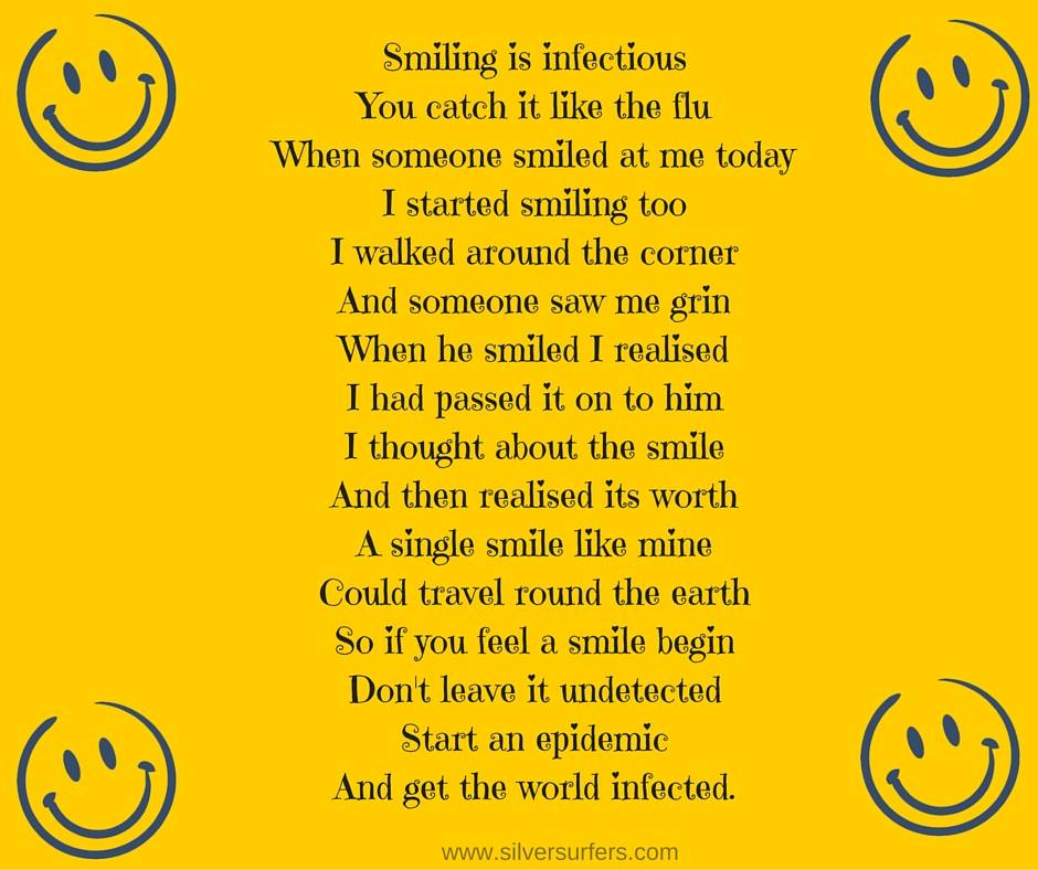 Smiling is infectious..
